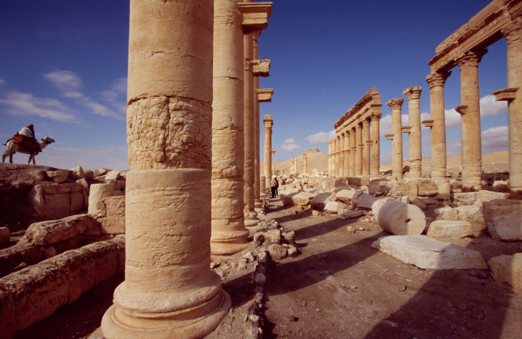 Ruins of ancient city of Palmyra, Syria ,Before Civil War in 2005